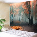 Sophisticated Bedroom Wall Tapestry Of Outfit Art Hanging Misty Forest