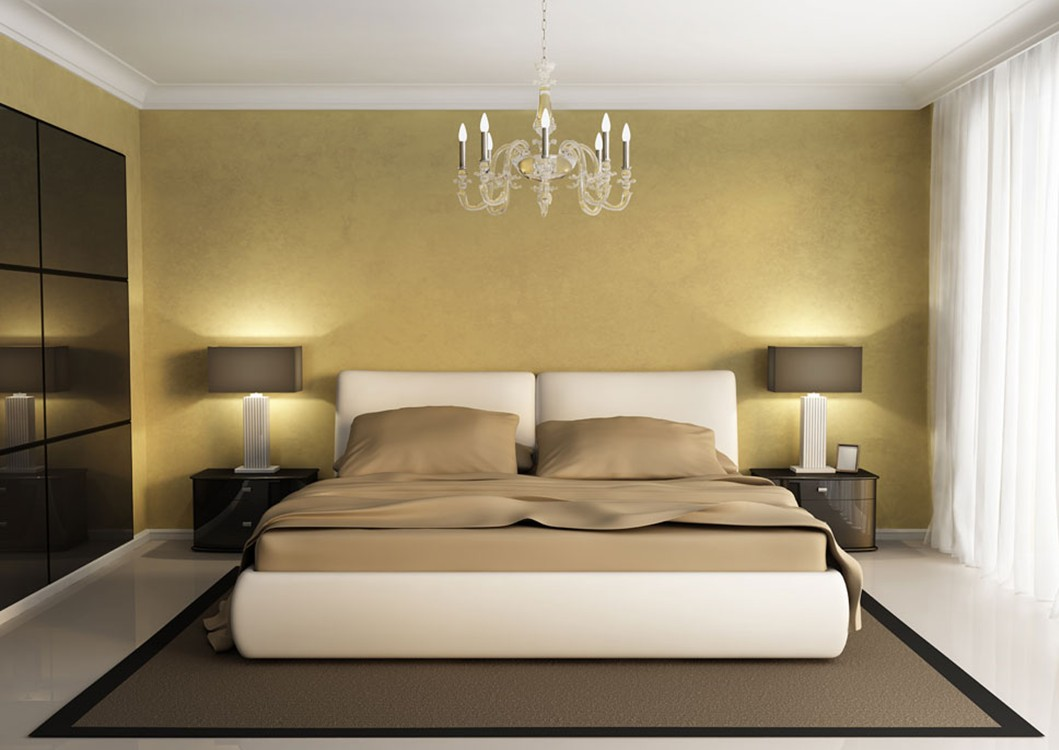 Sophisticated Yellow Bedroom Walls Of Modern Minimalist White Brown With Wall Mounted