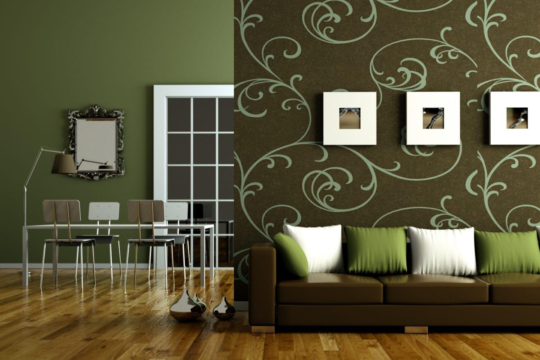 Superbealing Green Living Room Walls