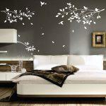 Terrific Bedroom Wall Designs Of Astounding