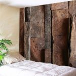 Terrific Bedroom Wall Tapestry Of Wood Decor Wood Color W Inch