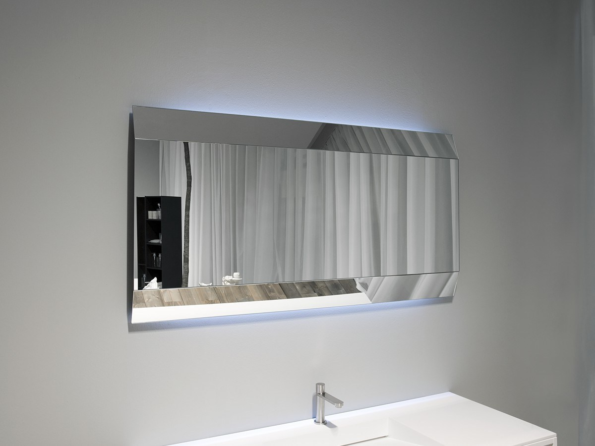 Terrific Lighted Bathroom Wall Mirror Of Modern