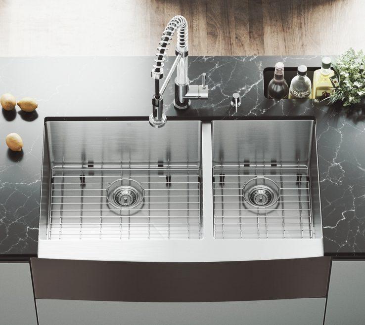 Unique E Kitchen Sink Of Shop Vigo Bingham Stainless Steel Double