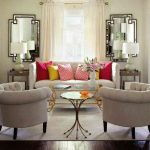Unique Living Room Wall Mirrors Of Large Round In Large For Sale