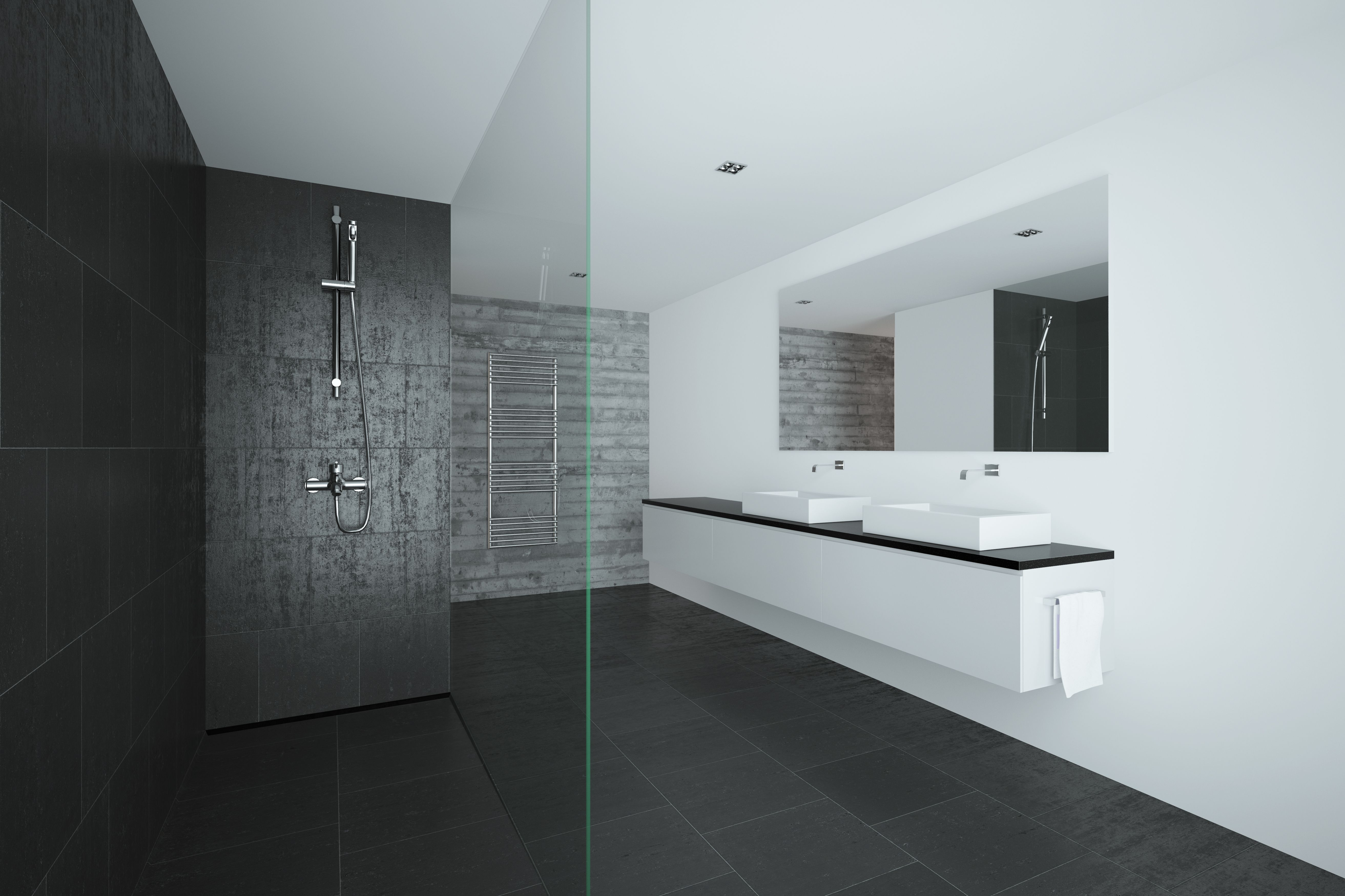Vanity Bathroom Wall And Floor Tiles
