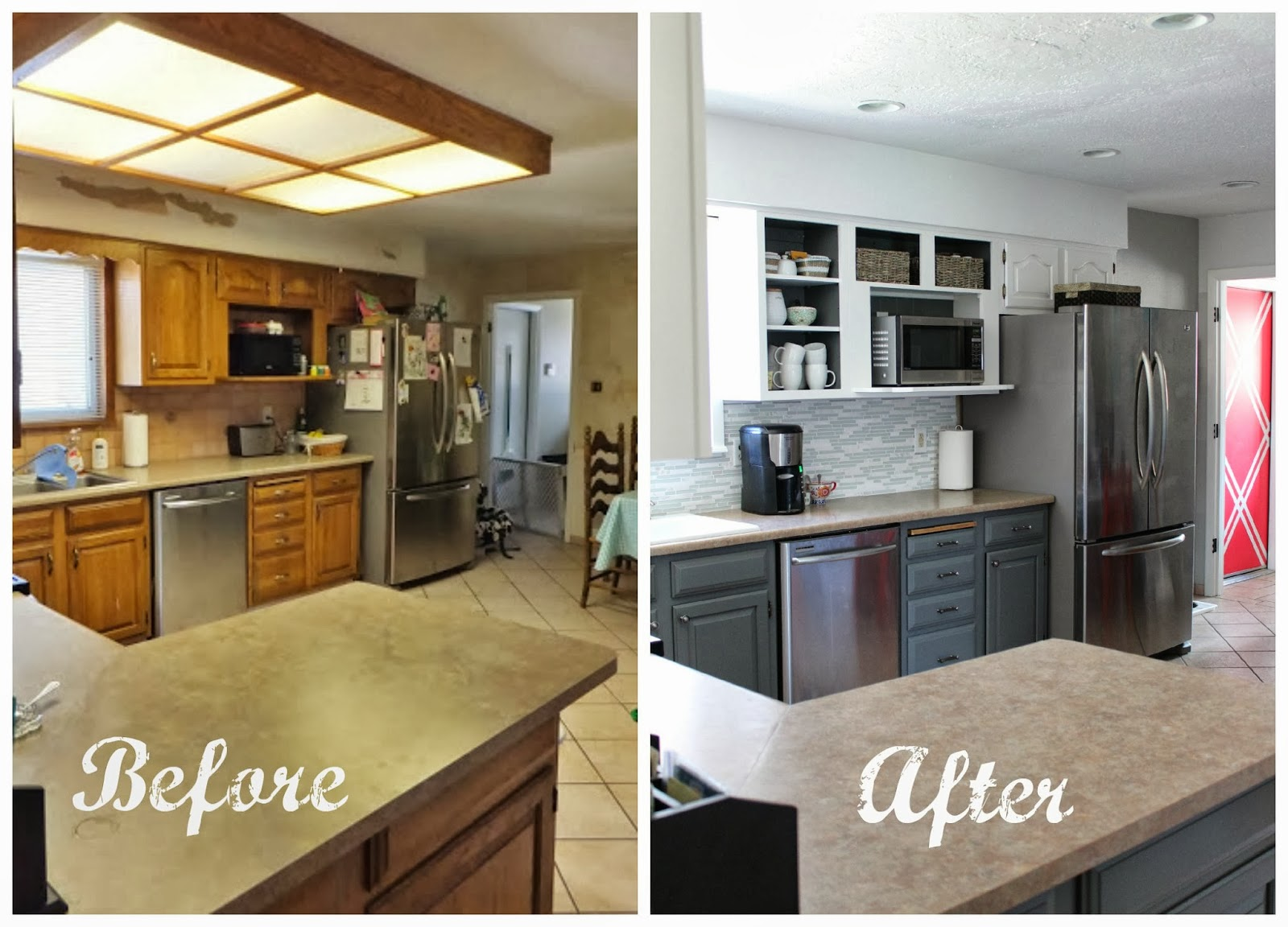 Vanity Kitchen Remodel Before And After Of They Design Grey White Pic On S Acnn Decor