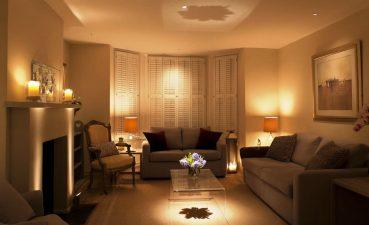 Vanity Living Room Lighting Of Elegant Ideas