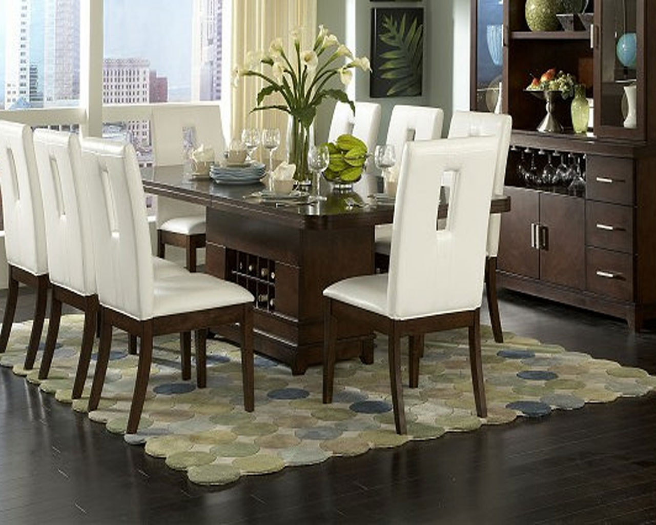 Vanity What To Put In The Middle Of Your Kitchen Table Centerpieces And Eight Seats Acnn Decor