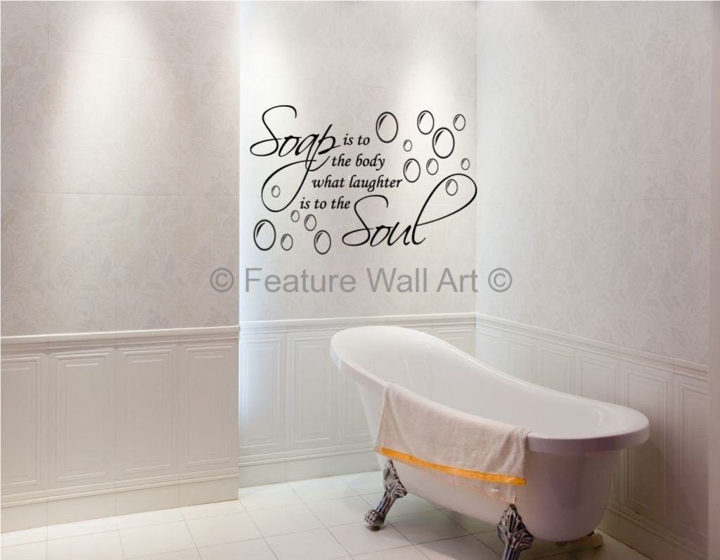Wall Art For Bathroom Of Ideas Design Soap Stickers Soul