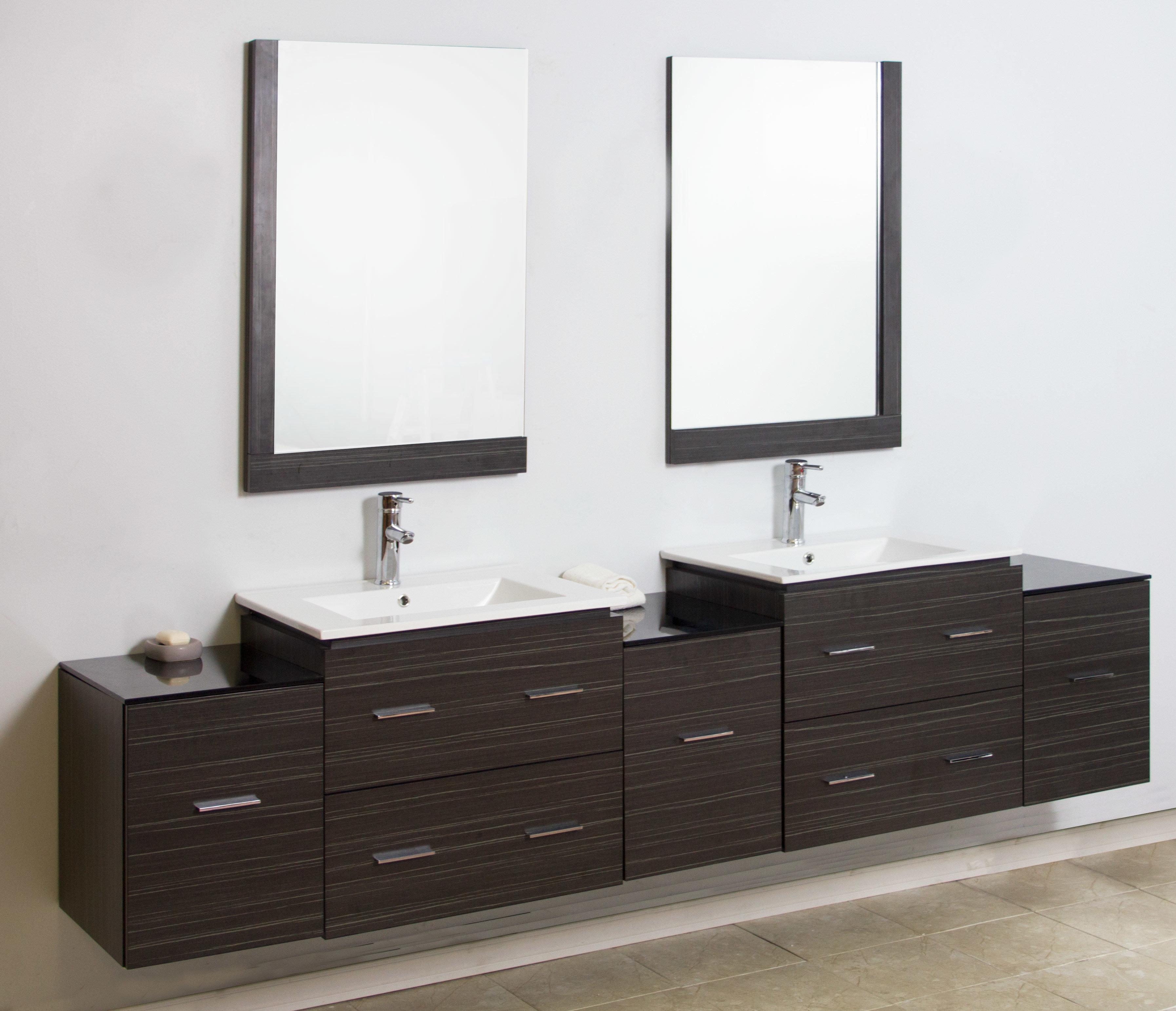 Wall Mount Bathroom Of American Imaginations Double Modern Vanity Set