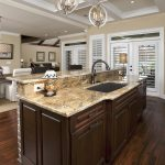 Wonderful Kitchen Island With Sink Of Furniture Dark Brown Wooden Brown