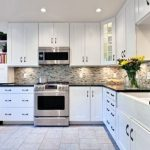Wonderful Kitchens With Black S Of More Luxury Kitchen Backsplash Ideas White S