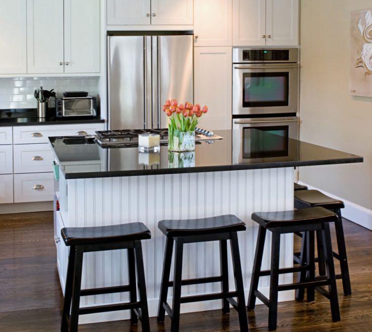 Wonderful White Kitchen Black S Of With Shaker S Beadboard Backing On Island