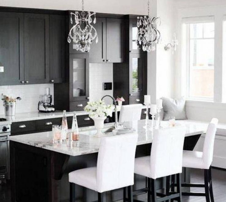 Adorable Black And Red Kitchen Design