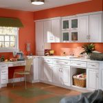 Adorable Kitchens Painted Orange Of Wall Kitchen Color Schemes With White S