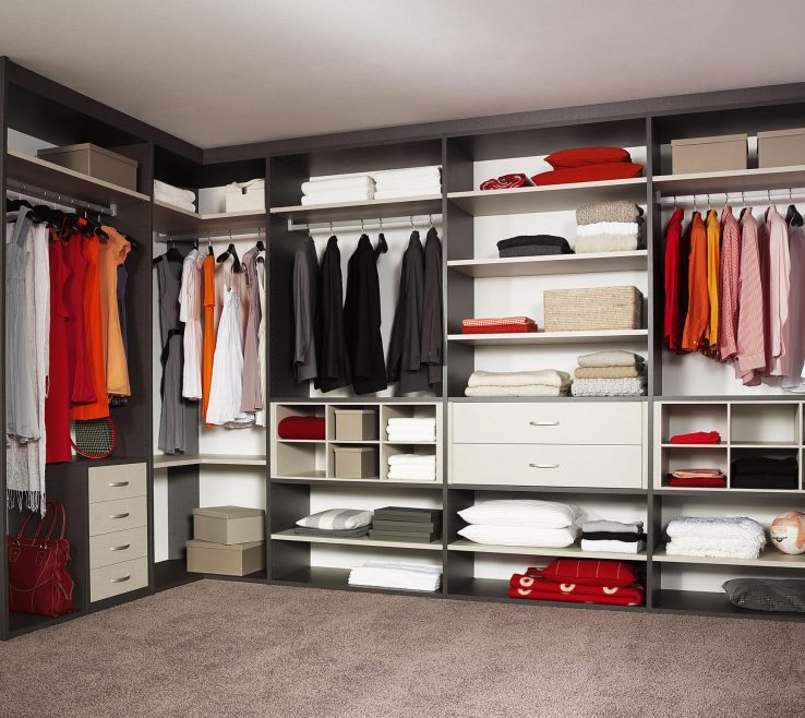 Adorable Walk In Wardrobe Closet Of Legno Interior Storage System