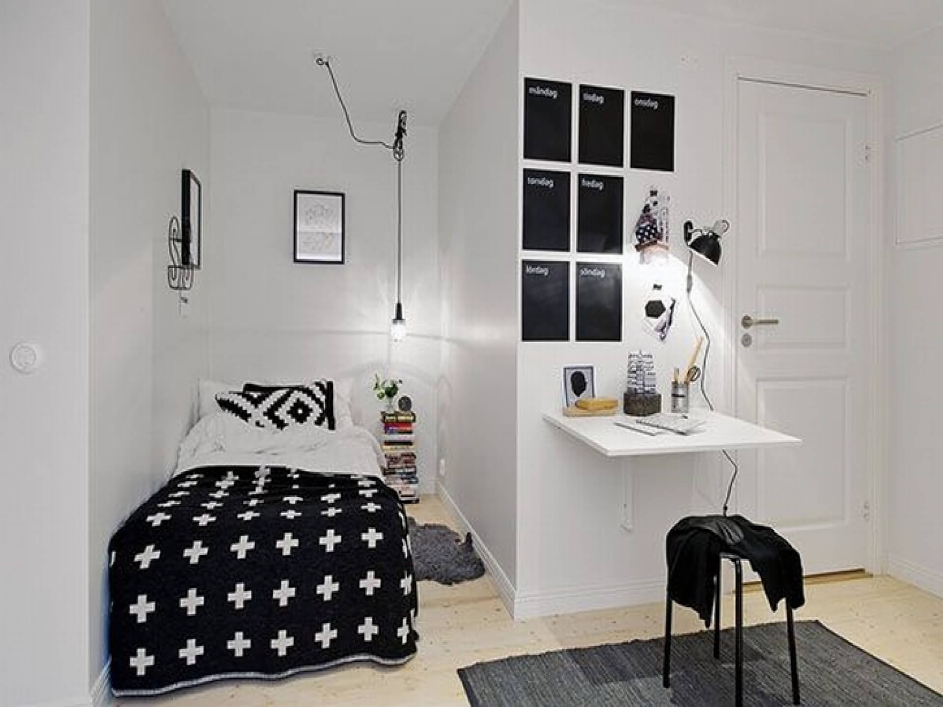 Image of: Alluring Black And White Rooms For Teens Of Bedroom Ideas Teenage Girls Acnn Decor