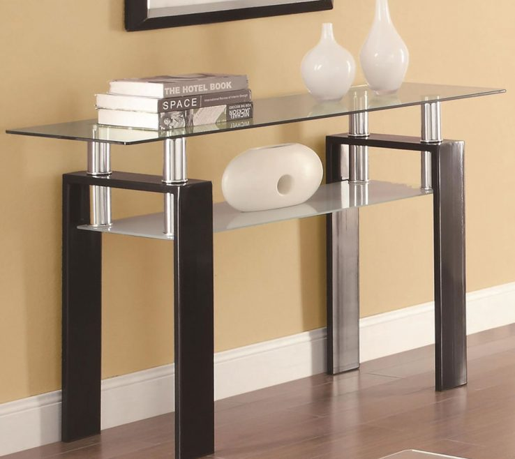 Alluring Contemporary Console Table With Drawers Of Sofa Table Trendy Sofa Glass Ideas