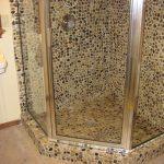 Alluring Floor Decoration Of Bathroom With Pebble Tile Shower Design