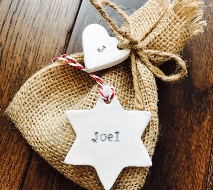 Alluring Handmade Decorations Of Personalised Christmas Tree Decoration Personalised Star Decoration