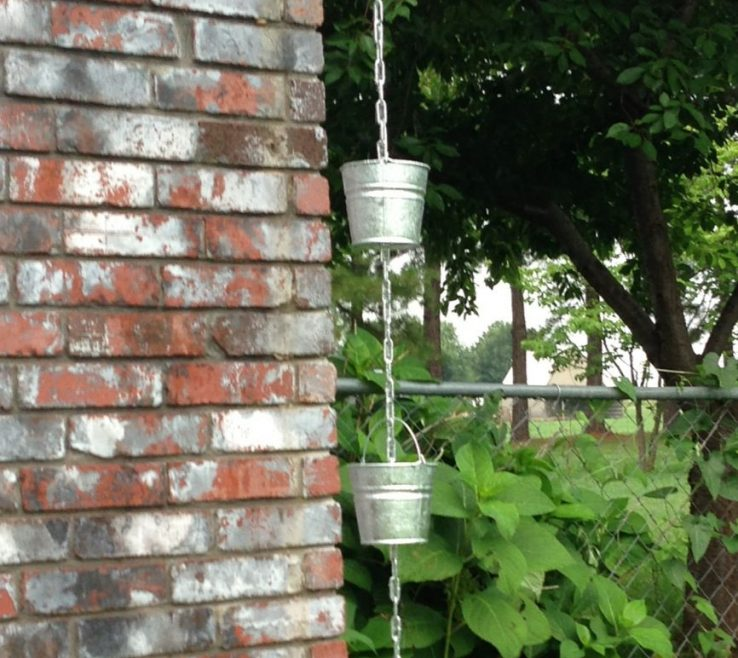 Amazing Creative Gutter Solutions Of Rain Chain Out Of Buckeyes Got Some