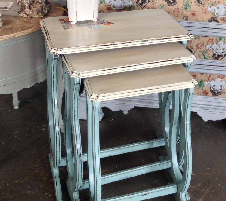Amazing Decorative Painting On Wood Furniture Of Duck Egg Andamp Old White Chalk Paint