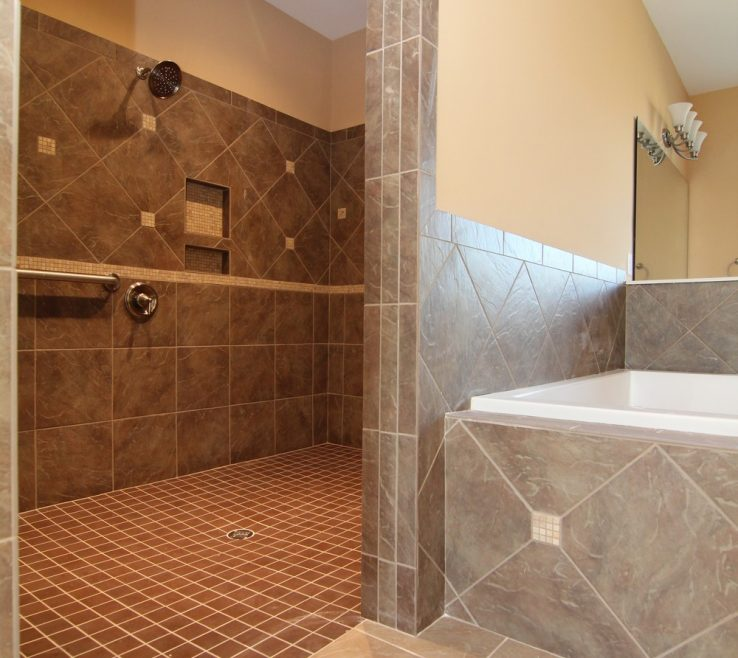 Amazing Handicap Shower Ideas Of This Accessible Wraps Behind The Soaking Tub