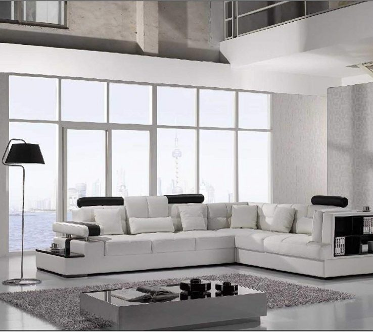 Artistic Modern Sofa For Living Room Of Conceptreview Vig Furniture T White Leather Sectional