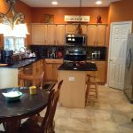 Artistic Orange And Brown Kitchen Decor Of Burnt With New Tile Flooring