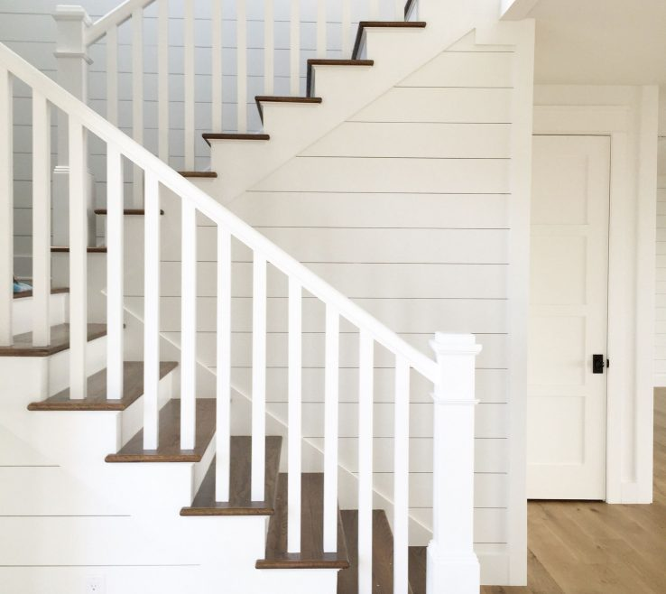 Astonishing Indoor Stair Railing Pictures And Ideas Of Shiplap Stairs White Oak Flooring Kara Hebert