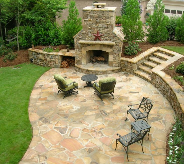 Astonishing Patio Stone Designs Pictures Of Extra Shade
