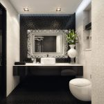 Astounding Black Toilet Bathroom Design Of Elegant And White Decor Inspiration