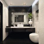 Astounding Black Toilet Bathroom Design Of Elegant And White Decor Inspiration