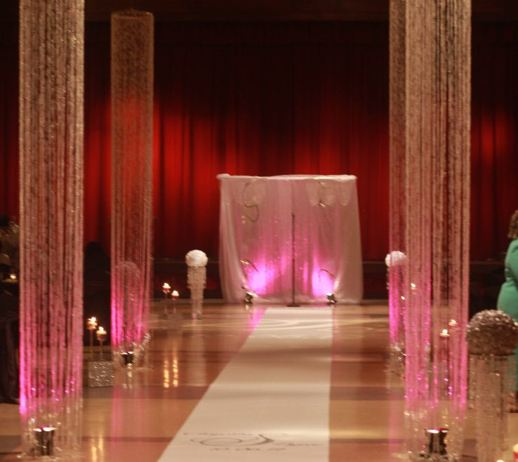 Astounding Decorating With Columns Of Crystal Wedding Column Crystal Wedding Decor Ceremony
