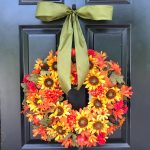 Astounding Flower Arrangements For Front Door Of Silk Floral Wreath Fall Wreaths Inch