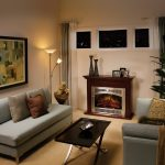 Astounding Glass Block Fireplace Of Electric For Small Living Room