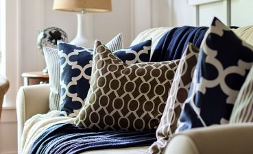 Attractive Brown Decor Of And Navy Envelope Pillows For Fall