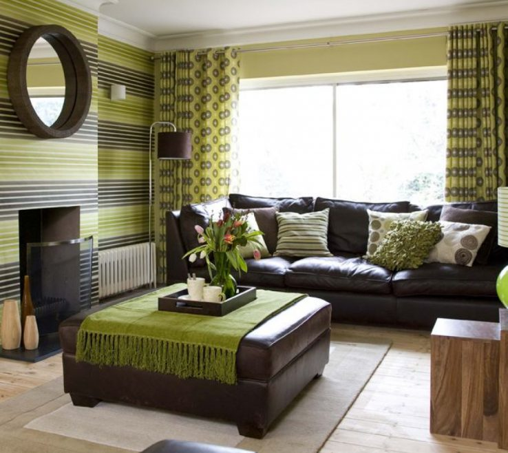Attractive Green And Brown Living Room Of Beautiful Ideas Of Rooms Decorating Ideas