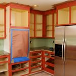 Attractive Kitchens Painted Orange Of Step