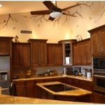 Attractive Orange And Brown Kitchen Decor Of Most Magic White S With Granite S