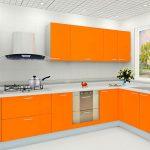 Attractive Orange Kitchen S Of Opulent Design Ideas Modren White Country Pictures