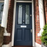 Beautiful Front Door Of Victorian With White Laminate Glass