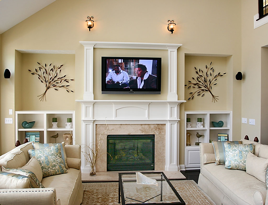 Living Room Ideas With Fireplace And Tv Acnn Decor