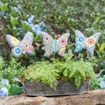 Brilliant Painted Garden Stones Of Mosaic Stones Set Of Bufferflies