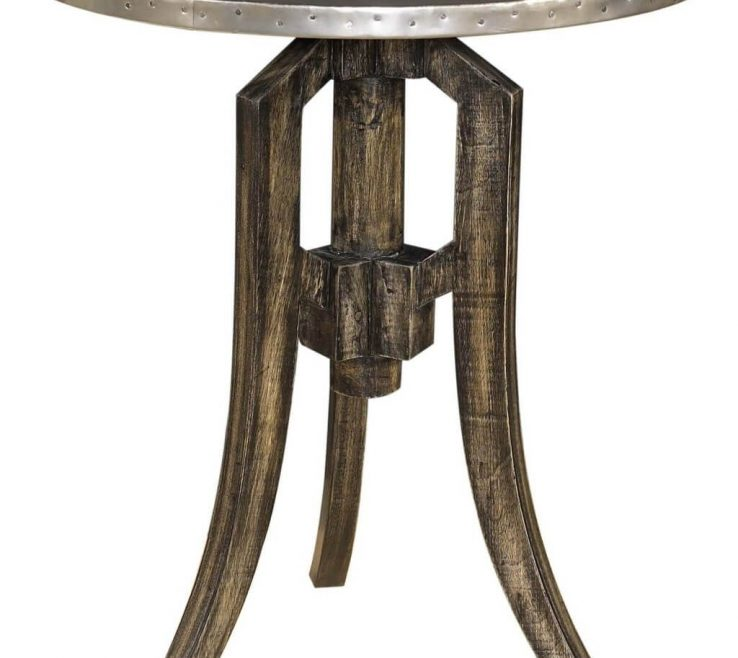 Brilliant Side Tables For Small Spaces Of Furniture Vintage Round Metal Table Living Room