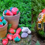 Captivating Painted Garden Stones Of Best Creative Rock Painting Ideas For Decoration