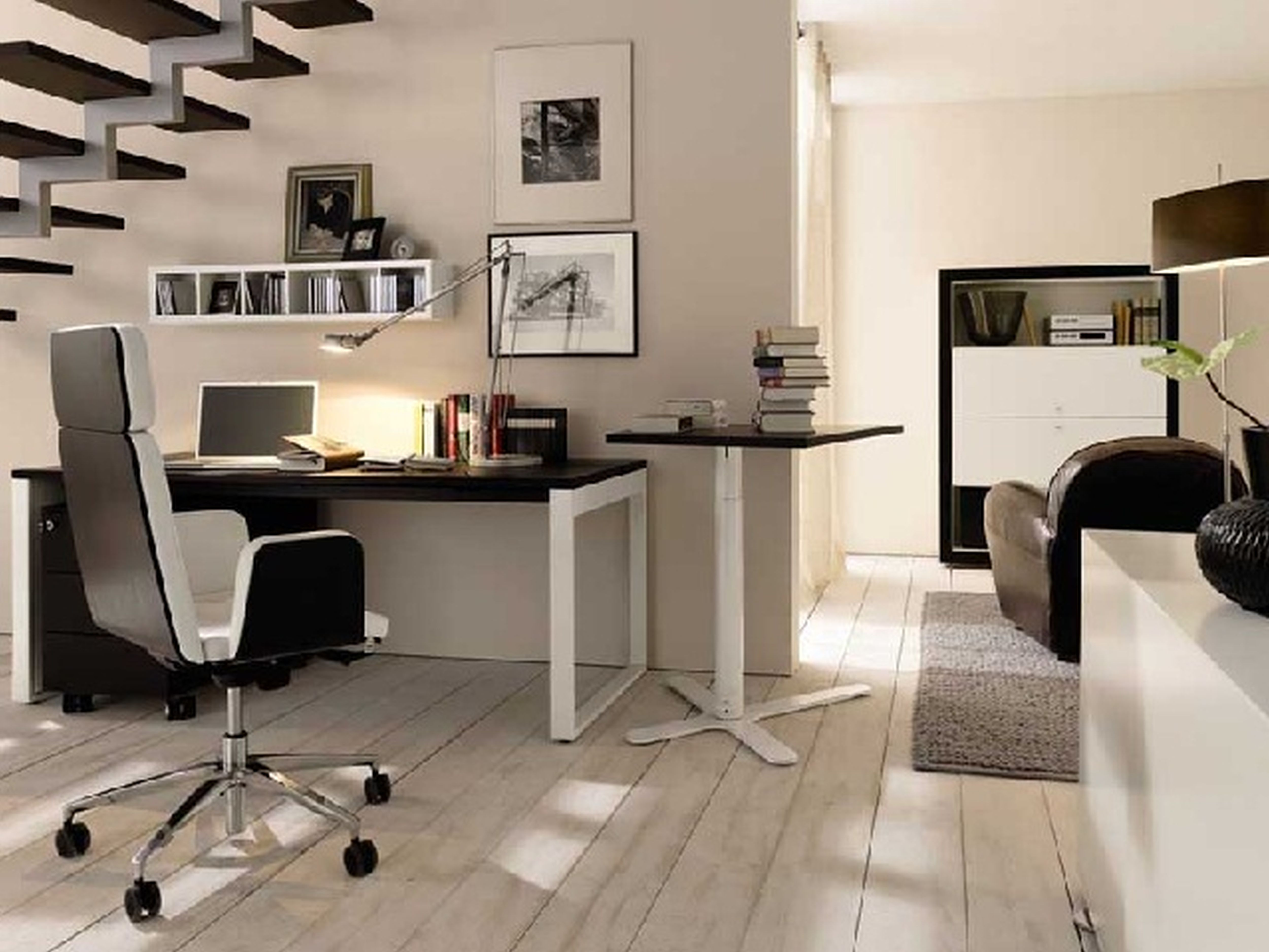 Charming Contemporary Office Decorating Ideas Of Ideascontemporary Design Under Stair For Small E Acnn Decor