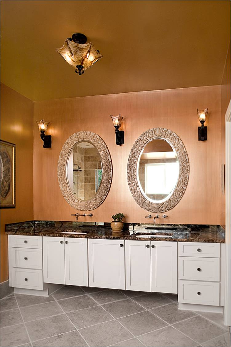 Charming Copper Interior Paint Of Metallic Walls With Rich Gold Metallic Ceiling Acnn Decor