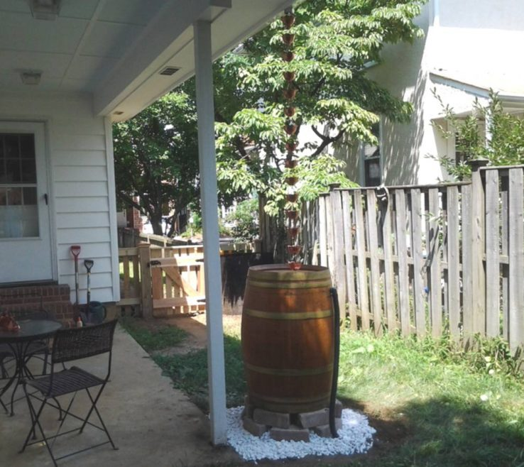 Charming Downspout Alternatives Of Rain Chain Cups And Barrel