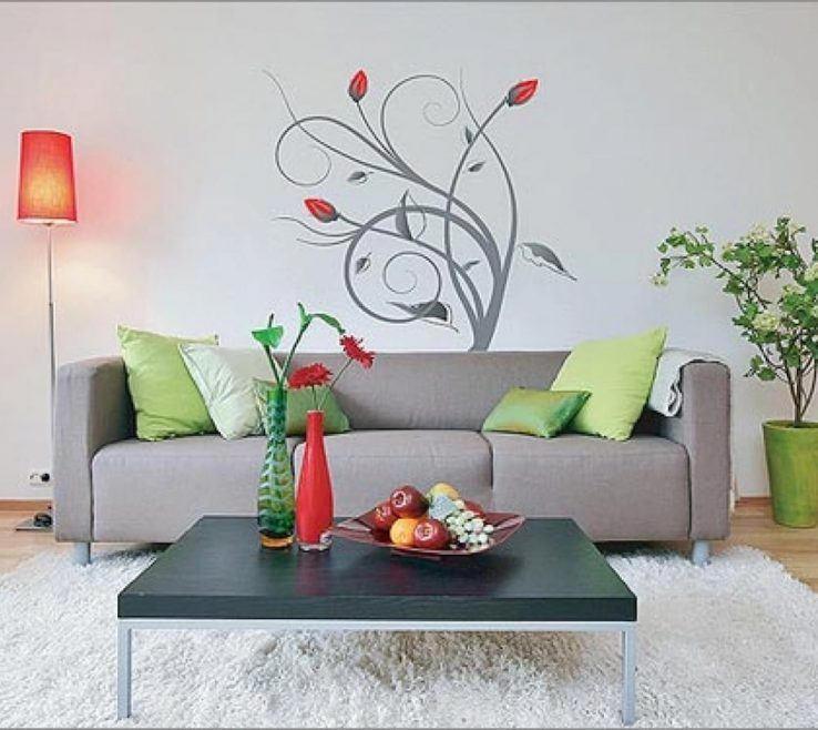 Charming Interior Design Paintings Of Floral Room Painting